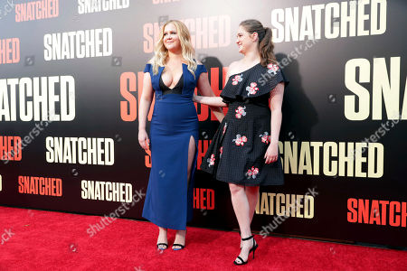 """Stock Picture of Executive Producer/Actor Amy Schumer and Executive Producer Kim Caramele seen at World Premiere of Twentieth Century Fox """"Snatched"""" at Regency Village Theatre, in Los Angeles"""