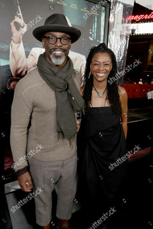 """Isaiah Washington and Jenisa Garland seen at the World Premiere of Warner Bros. """"Live by Night"""" at TCL Chinese Theater, in Los Angeles"""