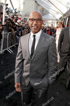 "Producer Ravi D. Mehta seen at Los Angeles World Premiere of Warner Bros. Pictures' ""Unforgettable"" at TCL Chinese Theatre, in Los Angeles"