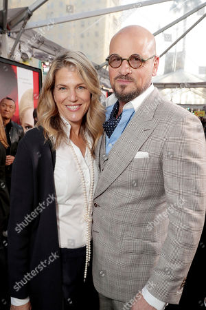 "Stock Picture of Executive Producer Lynn Harris and Matti Leshem seen at Los Angeles World Premiere of Warner Bros. Pictures' ""Unforgettable"" at TCL Chinese Theatre, in Los Angeles"