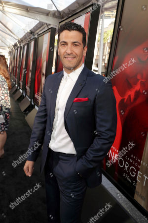 "Simon Kassianides seen at Los Angeles World Premiere of Warner Bros. Pictures' ""Unforgettable"" at TCL Chinese Theatre, in Los Angeles"
