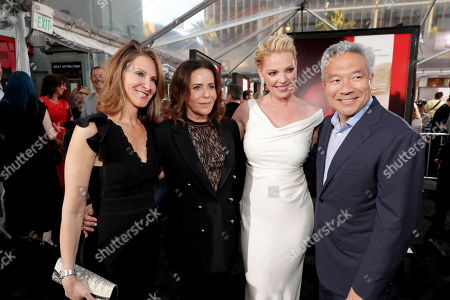 "Stock Photo of Producer Alison Greenspan, Director/Producer Denise Di Novi, Katherine Heigl and Kevin Tsujihara, Chairman and Chief Executive Officer, Warner Bros., seen at Los Angeles World Premiere of Warner Bros. Pictures' ""Unforgettable"" at TCL Chinese Theatre, in Los Angeles"