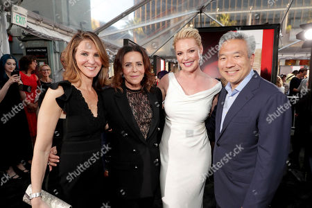 "Producer Alison Greenspan, Director/Producer Denise Di Novi, Katherine Heigl and Kevin Tsujihara, Chairman and Chief Executive Officer, Warner Bros., seen at Los Angeles World Premiere of Warner Bros. Pictures' ""Unforgettable"" at TCL Chinese Theatre, in Los Angeles"