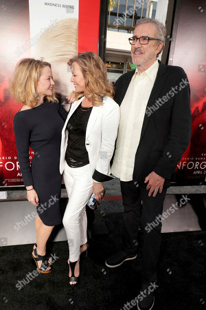 "Jordan Ladd, Cheryl Ladd and Brian Russell seen at Los Angeles World Premiere of Warner Bros. Pictures' ""Unforgettable"" at TCL Chinese Theatre, in Los Angeles"