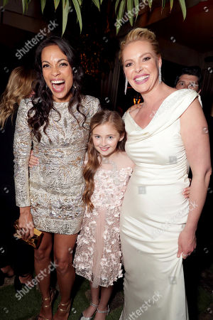 "Exclusive - Rosario Dawson, Isabella Kai Rice and Katherine Heigl seen at Los Angeles World Premiere of Warner Bros. Pictures' ""Unforgettable"" after party, in Los Angeles"