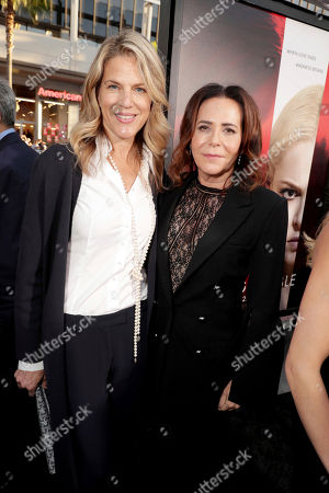 "Stock Image of Executive Producer Lynn Harris and Director/Producer Denise Di Novi seen at Los Angeles World Premiere of Warner Bros. Pictures' ""Unforgettable"" at TCL Chinese Theatre, in Los Angeles"
