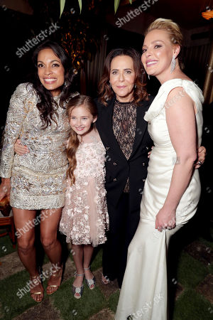 "Exclusive - Rosario Dawson, Isabella Kai Rice, Director/Producer Denise Di Novi and Katherine Heigl seen at Los Angeles World Premiere of Warner Bros. Pictures' ""Unforgettable"" after party, in Los Angeles"