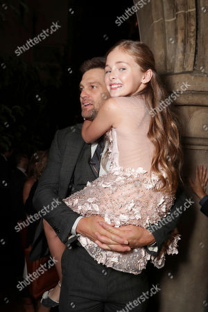 "Geoff Stults and Isabella Kai Rice seen at Los Angeles World Premiere of Warner Bros. Pictures' ""Unforgettable"" after party, in Los Angeles"