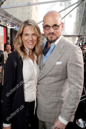 "Stock Image of Executive Producer Lynn Harris and Matti Leshem seen at Los Angeles World Premiere of Warner Bros. Pictures' ""Unforgettable"" at TCL Chinese Theatre, in Los Angeles"