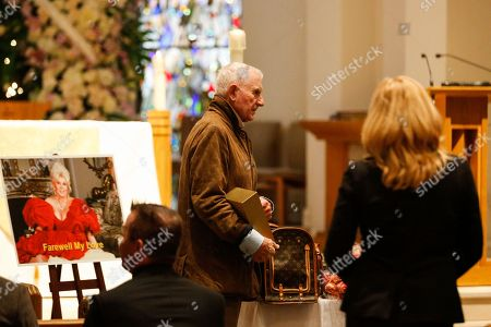 """Prince Frederic Von Anhalt attends Zsa Zsa Gabor's """"Celebration of Life"""" memorial service at the Good Shepherd Church, in Beverly Hills, Calif. Zsa Zsa Gabor died at the age of 99 on Dec. 18"""
