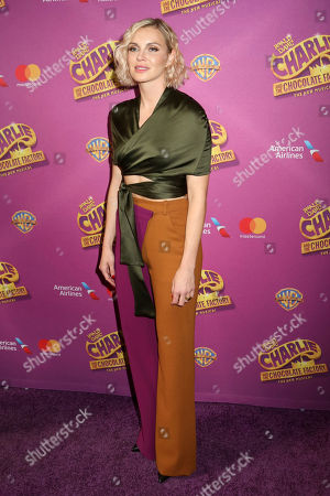 "Phoebe Dahl attends Roald Dahl's ""Charlie and the Chocolate Factory"" Broadway opening night at the Lunt-Fontanne Theater on Sunday April, 23, 2017, in New York"