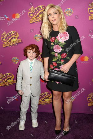 """Jane Krakowski and Bennett Robert Godley attend Roald Dahl's """"Charlie and the Chocolate Factory"""" Broadway opening night at the Lunt-Fontanne Theater on Sunday April, 23, 2017, in New York"""