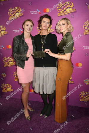 "Chloe Dahl, from left, Lucy Dahl and Phoebe Dahl attend Roald Dahl's ""Charlie and the Chocolate Factory"" Broadway opening night at the Lunt-Fontanne Theater on Sunday April, 23, 2017, in New York"