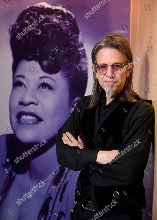"Scott Goldman, executive director of The Grammy Museum at L.A. Live poses for a portrait at a sneak preview of ""Ella at 100: Celebrating the Artistry of Ella Fitzgerald"" at The Grammy Museum at L.A. Live, in Los Angeles"