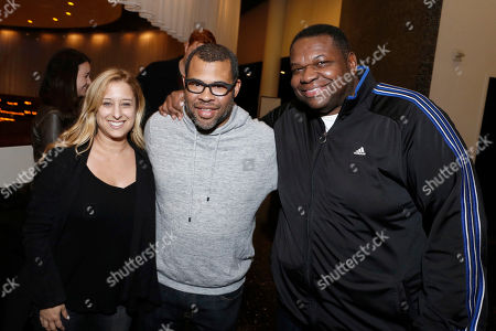 """Risa Binder, Director/Writer Jordan Peele and Kelvin Brown seen at """"Get Out"""" Special Screening Q&A at ArcLight Hollywood, in Los Angeles"""