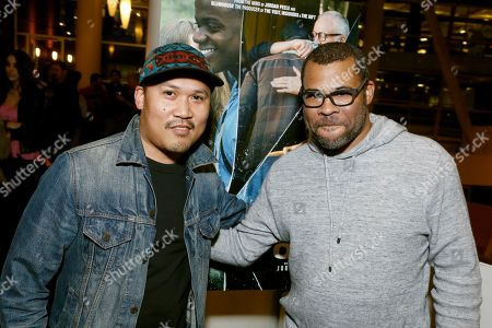 "Dante Basco and Director/Writer Jordan Peele seen at ""Get Out"" Special Screening Q&A at ArcLight Hollywood, in Los Angeles"