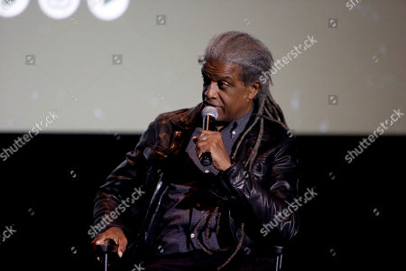 """Elvis Mitchell seen at """"Get Out"""" Special Screening Q&A at ArcLight Hollywood, in Los Angeles"""