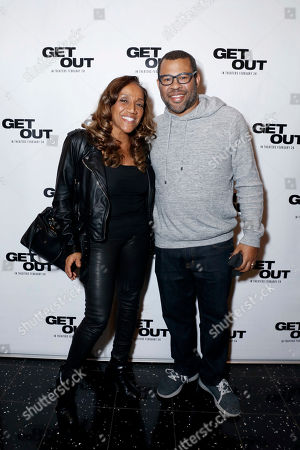 """Kathy Sledge and Director/Writer Jordan Peele seen at """"Get Out"""" Special Screening Q&A at ArcLight Hollywood, in Los Angeles"""