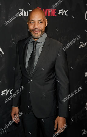 """John Ridley, executive producer of """"Guerrilla,"""" poses at a """"For Your Consideration"""" event for the Showtime series at the Writers Guild of America, in Beverly Hills, Calif"""