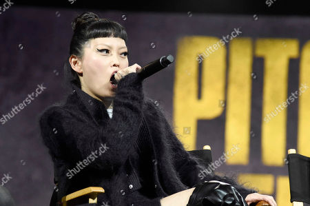 """Hana Mae Lee seen at """"Pitch Perfect 3"""" at Vidcon at Anaheim Convention Center, in Anaheim, CA"""