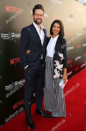 """Todd Grinnell and India de Beaufort seen at """"The Power of TV: A Conversation with Norman Lear and Netflix original series 'One Day at a Time' """" ATAS Panel at the Wolf Theater at Saban Media Center, in Los Angeles"""