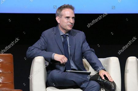 """Michael Schneider seen at """"The Power of TV: A Conversation with Norman Lear and Netflix original series 'One Day at a Time' """" ATAS Panel at the Wolf Theater at Saban Media Center, in Los Angeles"""