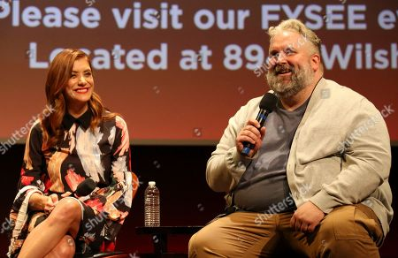 Kate Walsh and executive producer Brian Yorkey seen at '13 Reasons Why' Netflix FYSee exhibit space with a Q&A at the Samuel Goldwyn Theater, in Los Angeles