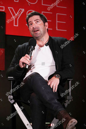 Stock Photo of James S. Levine at 'The Music of Netflix' panel Q&A at Netflix FYSee exhibit space, in Los Angeles, CA