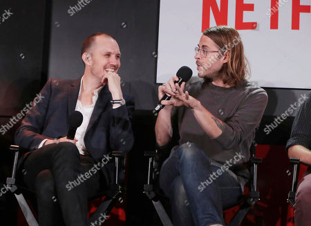 Elliott Wheeler and Zach Cowie at 'The Music of Netflix' panel Q&A at Netflix FYSee exhibit space, in Los Angeles, CA