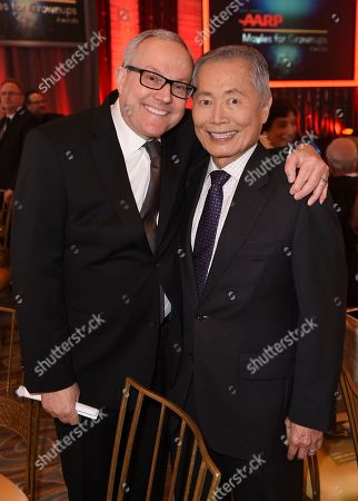 George Takei, right, and Brad Takei attend the 16th Annual AARP Movies for Grownups Awards at the Beverly Wilshire Hotel, in Beverly Hills, Calif