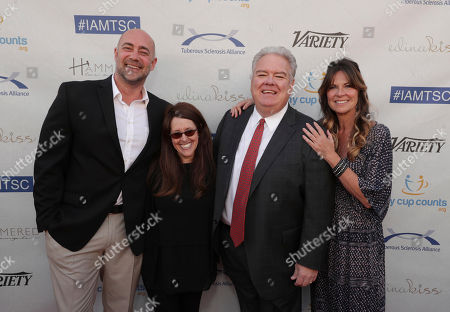 Alex Skuby, Wendy Liebman, Honoree Jim O'Heir and Mo Collins seen at 16th Annual Comedy for a Cure at The Globe Theatre at Universal Studios Hollywood, in Los Angeles, CA
