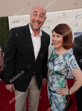 Alex Skuby and Kate Flannery seen at 16th Annual Comedy for a Cure at The Globe Theatre at Universal Studios Hollywood, in Los Angeles, CA