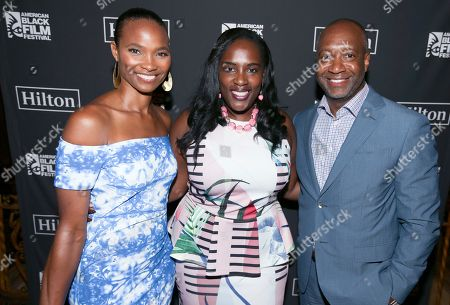 Nicole Friday, Andrea Richardson and Jeff Friday attend Girls Trip screening during the 2017 American Black Film Festival at Olympia Theater, in Miami Beach, Florida