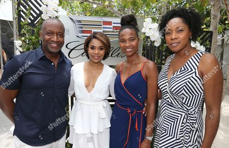 Jeff Friday, Regina Hall, Nicole Friday, and Tonya Hallett attend the Cadillac Media Luncheon to Kickoff ABFF during the 2017 American Black Film Festival at Raleigh Hotel, in Miami Beach, Florida