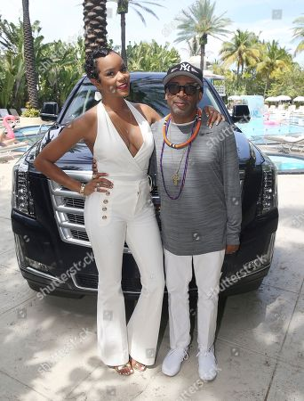 LeToya Luckett and Spike Lee attend the Cadillac Media Luncheon to Kickoff ABFF during the 2017 American Black Film Festival at Raleigh Hotel, in Miami Beach, Florida