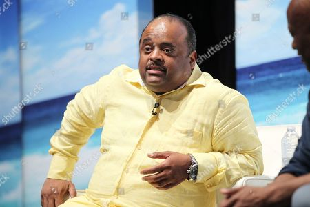 Roland Martin is seen at the Business of Entertainment with John Singleton during the 2017 American Black Film Festival at New World Center, in Miami Beach, Florida