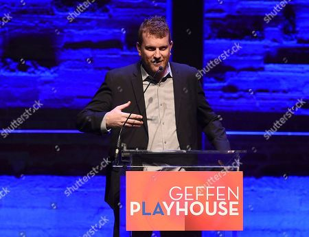 Gil Cates Jr. speaks at Backstage at the Geffen Gala, in Los Angeles