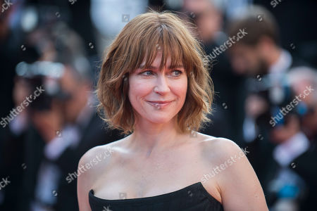 Marie-Josee Croze poses for photographers upon arrival at the screening of the film Based On A True Story at the 70th international film festival, Cannes, southern France