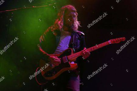 Stock Photo of Artist Andrew Wessen of Grouplove performs on the Bud Light Stage of the 2017 Beale Street Music Festival on in Memphis, Tenn