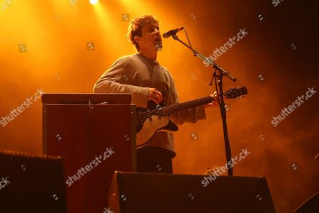 Artist Andrew VanWyngarden of MGMT performs on the Bud Light Stage of the 2017 Beale Street Music Festival on in Memphis, Tenn
