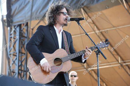 Artist John Paul White performs on the FedEx Stage of the 2017 Beale Street Music Festival on in Memphis, Tenn