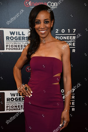 """Shaun Robinson attends the 2017 Will Rogers """"Pioneer of the Year"""" Dinner Honoring Cheryl Boone Isaacs during CinemaCon at The Colosseum at Caesars Palace, in Las Vegas"""