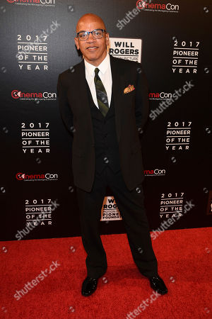 """David Oeylowo, attends the 2017 Will Rogers """"Pioneer of the Year"""" Dinner Honoring Cheryl Boone Isaacs during CinemaCon at The Colosseum at Caesars Palace, in Las Vegas"""