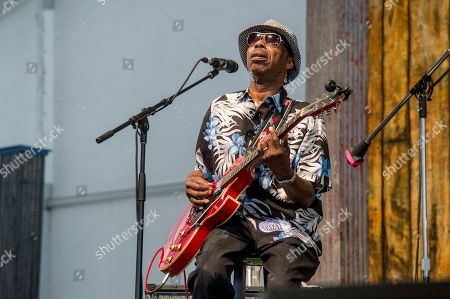 "Walter ""Wolfman"" Washington of the Joe Krown Trio performs at the New Orleans Jazz and Heritage Festival, in New Orleans"