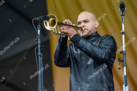 Stock Photo of Irvin Mayfield performs at the New Orleans Jazz and Heritage Festival, in New Orleans