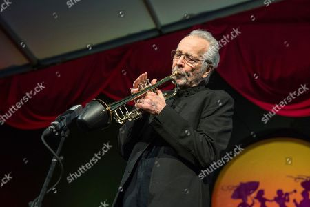 Herb Alpert performs at the New Orleans Jazz and Heritage Festival, in New Orleans