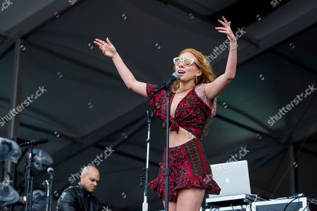 Haley Reinhart performs at the New Orleans Jazz and Heritage Festival, in New Orleans