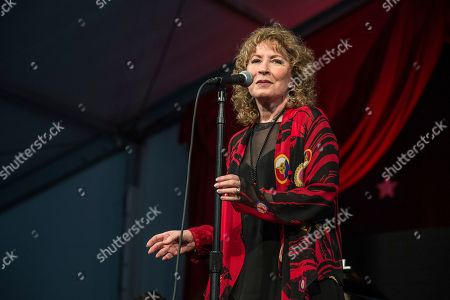 Lani Hall performs at the New Orleans Jazz and Heritage Festival, in New Orleans