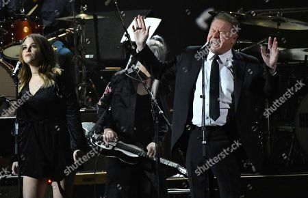 """Don Henley performs """"Free Fallin"""" at the MusiCares Person of the Year tribute honoring Tom Petty at the Los Angeles Convention Center on"""