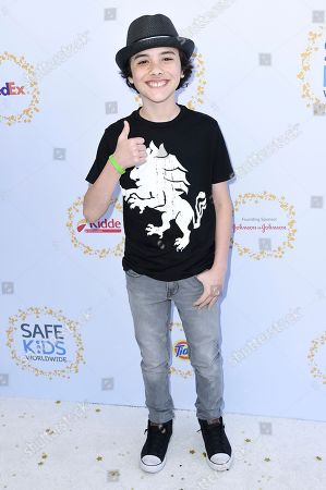 Hunter Payton attends the 2017 Safe Kids Day held at Smashbox Studios, in Culver City, Calif